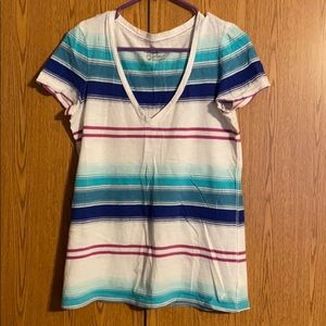 5/$25 Blue, White, and Pink AE tee